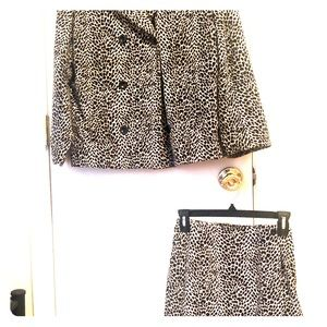 Liz Claiborne suit-animal print
